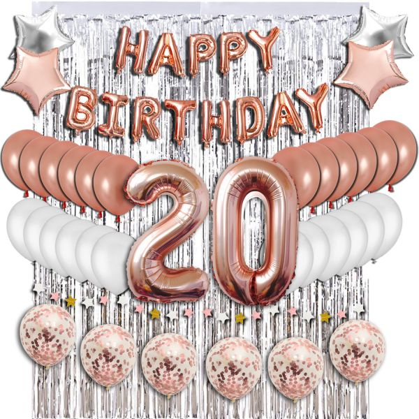 20th Birthday Decorations Party Supplies Sweet 20 Balloons