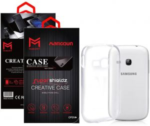 Margoun for Samsung Galaxy Young S6310 Creative Case Soft Clear TPU Back Cover Protection Case - Transparent Clear