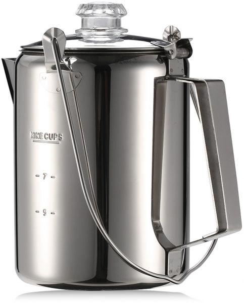 9 Cup Stainless Steel Percolator Coffee Maker For Outdoor Camping