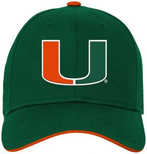 4ffb10a7aca14 NCAA Miami Hurricanes Kids   Youth Boys Basic Structured Adjustable Hat