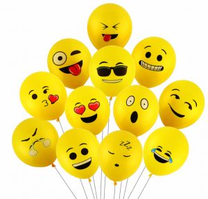 2ad80de64fd9 100PCs 12inch Emoji Balloons Smiley Face Expression Yellow Latex Balloons  Party Wedding Balloons Cartoon Inflatable Balls