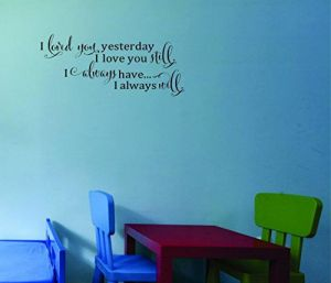 I Pray Love on Her Through Night and Day Amen Inspirational Quote Peel /& Stick Wall Sticker Decal 12 x 18 Black Design with Vinyl Moti 1790 1 Bless This Child Oh Lord