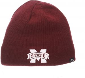 b63c8045868dc0 Zephyr NCAA Mississippi State Bulldogs Adult Men Edge Reversible Beanie,  Adjustable, Team Color