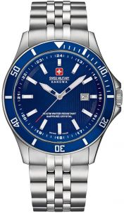 555117f06 Swiss Military Casual Watch , Stainless Steel , Analog, for Men