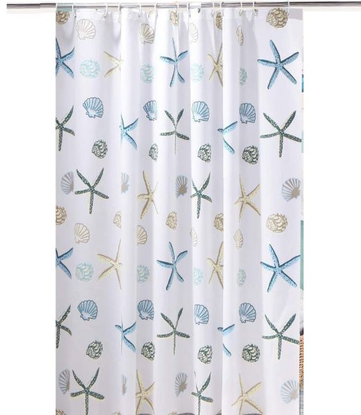 Shower Curtain Liner Waterproof Eco Friendly PEVA Bathroom Curtian Mildew Resistant With Rings 180 X 200 Cm