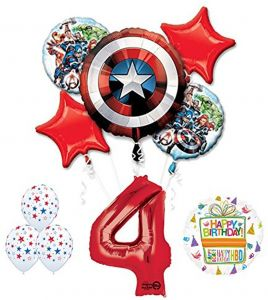 Mayflower Products The Ultimate Avengers Super Hero 4th Birthday Party Supplies And Balloon Decorations