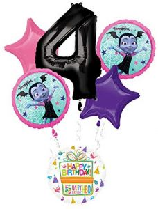 Mayflower Products Vampirina 4th Birthday Party Supplies Balloon Bouquet Decorations By