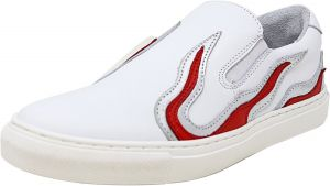 a1343927e94 Steve Madden Men s Inferno White Ankle-High Leather Slip-On Shoes - 12M
