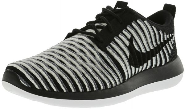 130509502 Nike Women s Roshe Two Flyknit Black   White Cool Grey Ankle-High Fashion  Sneaker - 6.5M