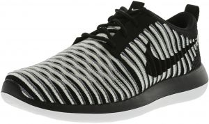 sale retailer dbdff 12591 Nike Women s Roshe Two Flyknit Black   White Cool Grey Ankle-High Fashion  Sneaker - 6M