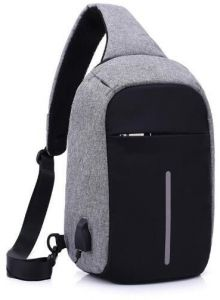 Sling Bag with USB Charging Port & Headphone Hole, Smart Crossbody Bag College School Chest Casual Daypack Travel Shoulder Backpack for Women Men Outdoor ...