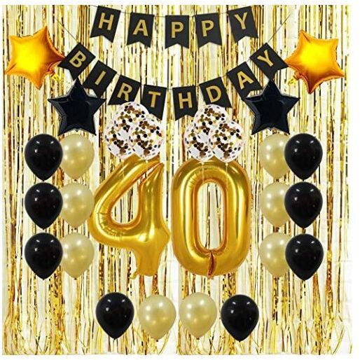 40th Birthday Decorations Gifts For Her HimMen Women