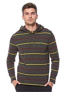 a001b61434a8be Polo Ralph Lauren Jersey Hoodie for Men - Dark Charcoal Heather Multi