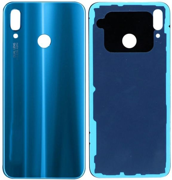 Huawei P20 Lite / Nova 3E Back Housing Glass Replacement Battery Door  Pre-Cut Adhesive For Huawei P20 Lite (Blue)