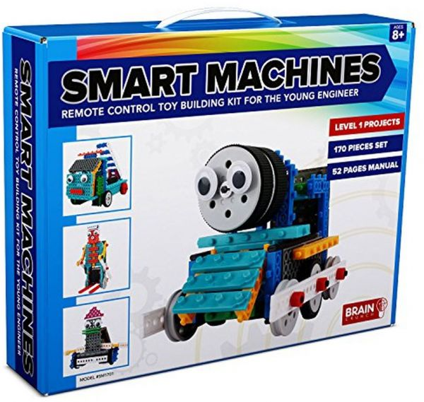 4-in-1 RC Robot Kit for Kids and Adults- STEM Toy Making Set, Building  Blocks, No Soldering Required- Model SM1701- Train, Firetruck, Skier and  Duck (Easy ...