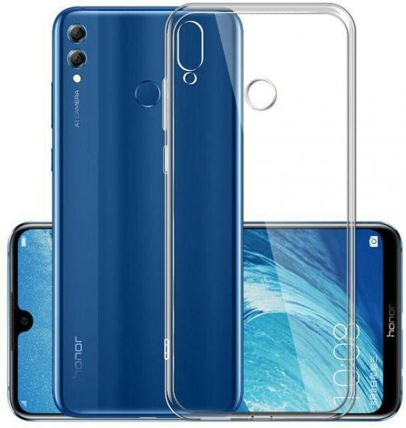 the latest cdb86 967c6 Back Case Cover Silicone For Huawei y7 prime 2019 - Clear