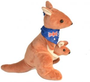 Soft Stuffed Animal Kangaroo Doll Kangaroo Cartoon Baby Toy Nap