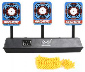 Guns With Soft Bullet Toys Auto Reset Digital Scoring Shooting Target For N Strike Elite Mega Rival Series Children Practicing Boys Birthday Gift