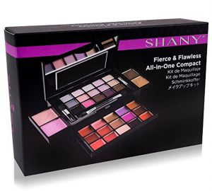 SHANY Fierce & Flawless All- in- One Makeup Set Compact with Mirror, 15 Eye Shadows, 2 Bronzers, 2 Blushes and 15 Lip/Eye Glosses- Applicators Included