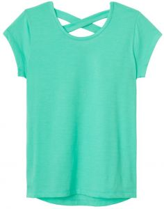 5aef01a0492 French Toast Little Girls  Short Sleeve Cross Back Top