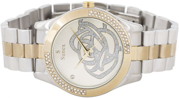 a0376dc4d Casual Watch Stainless Steel Band for Women by Sunex , S6388TG