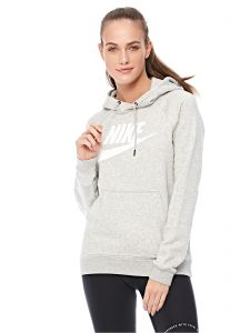 82c78e69d071 Nike Rally Hbr Training Hoodie for Women - Grey Heather Pale Grey (White)