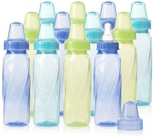 evenflo Vented, Nuby And Regular 7 Infant Baby Bottles A Wide Selection Of Colours And Designs