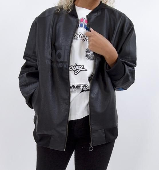 b996290dadb2 adidas Originals Aa-42 Faux Leather Track Jacket In Black