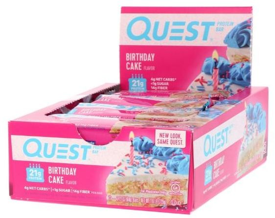 Quest Nutrition Protein Bar Birthday Cake Flavor Pack Of 12