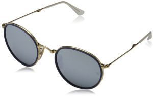 74c76f3cbfc Ray-Ban Folding Round Sunglasses in Gold Blue RB3517 001 30 51