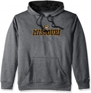 9e7a8b578 Champion (CHAFK) NCAA Missouri Tigers Adult Men Pullover Hood with Contra