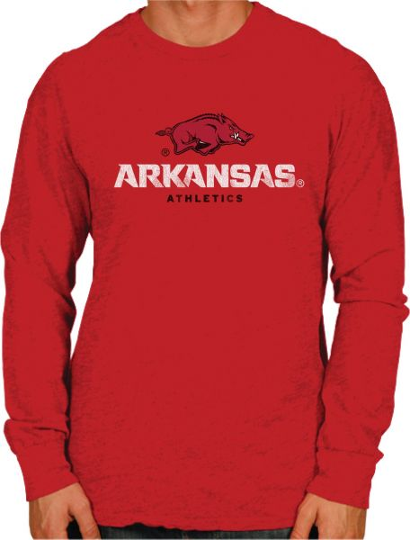 Original Retro Brand NCAA Arkansas Razorbacks Men s Long Sleeve Tee ... b375e8b75