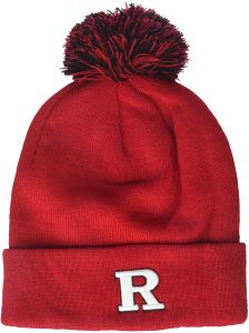 Zephyr NCAA Rutgers Scarlet Knights Adult Men Pom Knit Beanie 2eece80705be