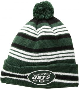 e4524af5e08 OTS NFL New York Jets Rickshaw Cuff Knit Cap with Pom