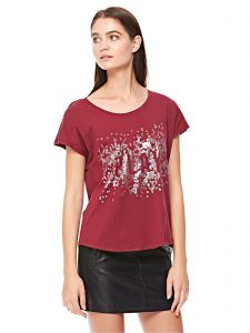 4358c566731904 ONLY T Shirt for Women - Red