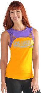 3021b3c7271 GIII For Her NBA Los Angeles Lakers Women's Power Up! Tank Top, XX-Large,  Gold