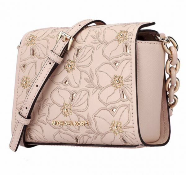38587bf274b4 Michael Kors Sofia Flower Embroidered Stud Ballet Pink Small Crossbody |  Souq - UAE