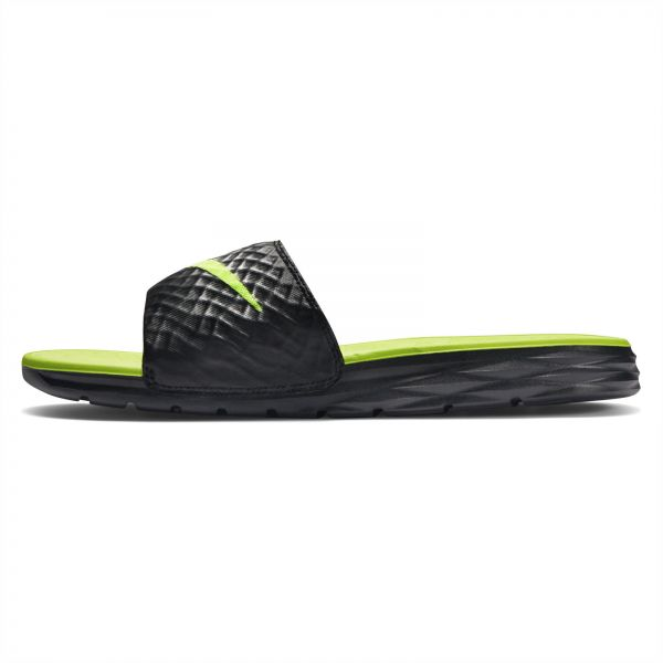 38c6a88694cf Nike Benassi Solar soft Slide 2 Slide Slippers for Men - Green Black ...