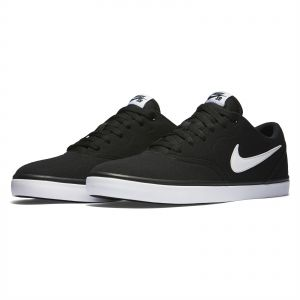 56e70d36884 Nike SB Check Solar Canvas Sports Sneakers for Men - Black White