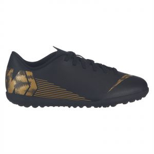 21f6ec9eff18a Nike JR Vapor 12 Club GS TF Football Shoes for Boys - Black/Metallic Vivid  Gold