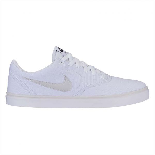 new style 93310 538d5 Nike Sb Check Solar Canvas Sport Sneakers for Men - White Vast Grey. by Nike,  Athletic Shoes - Be the first to rate this product