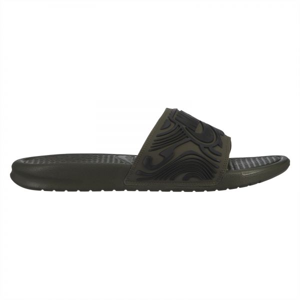 new style 96c9e 584f3 Nike Benassi JDI SE Slide Sandals for Men - Cargo Khaki Black   Souq - UAE
