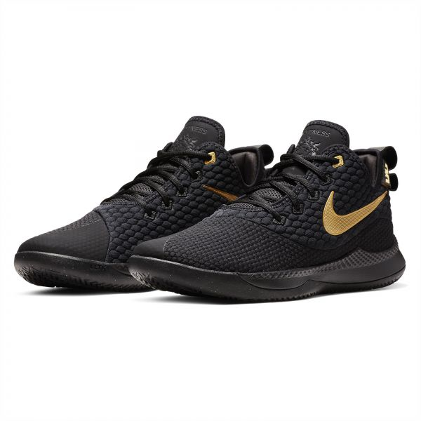 f7ef3aae96086 Nike Lebron Witness III Basketball Shoes for Men - Black Metallic Gold