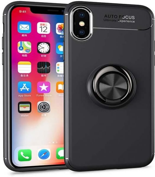 cover apple iPhone XR Luxury Cover Ring Magnetic