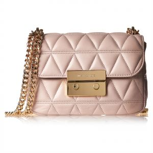 64acaa1cc503 Michael Kors 30S7GSLL1L 187 Quilted Crossbody Bag for Women - Leather, Pink