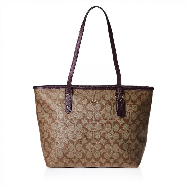 f10782ecf6 Coach F39523 Signature Zip Tote Bag for Women - Leather