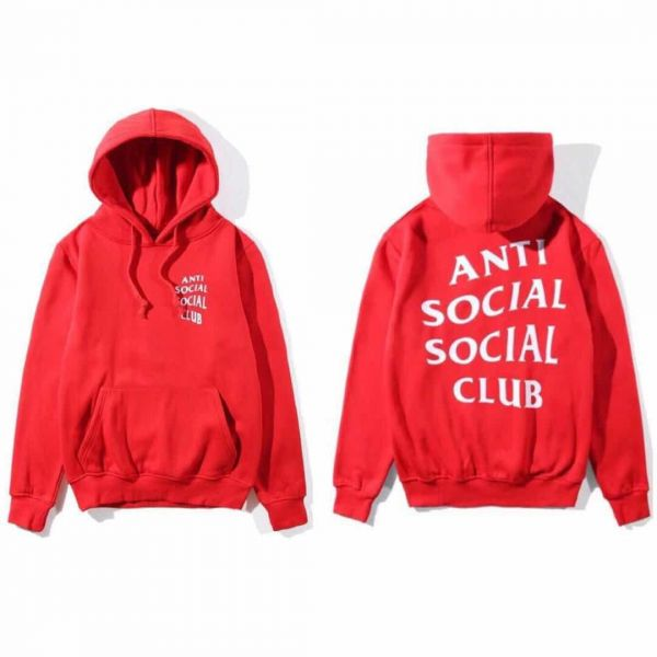 43bc68a58b57 Anti Social Social Club Classic Hoodie Red Assc Hooded Sweatshirt For Girl  And Women