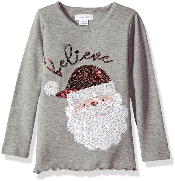 23b6317f814 Mud Pie Baby Toddler Girls' Holiday Christmas Long Sleeve Tunic, Gray  Sequin, SM/12-24 MOS | Souq - UAE