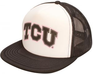 9b6ceee8f34 Ouray Sportswear NCAA TCU Horned Frogs Foam Front Mesh Back Trucker Cap