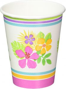 9d04e295456ac Sun-Sational Summer Luau Party Sophisticated Hibiscus Cups Tableware